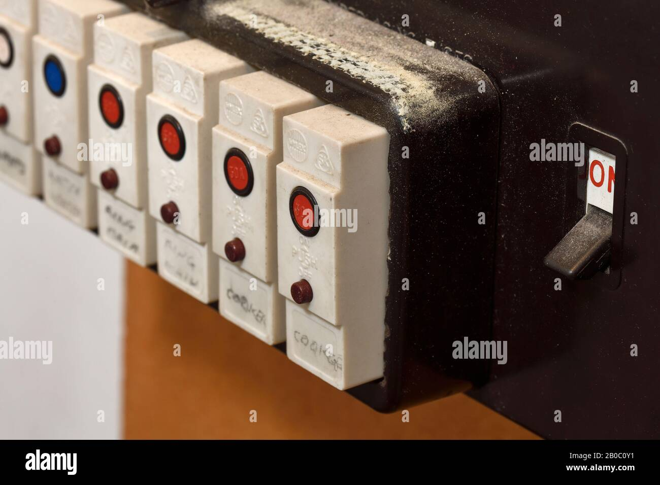 old fuses fuse box high resolution stock photography and images - alamy  alamy