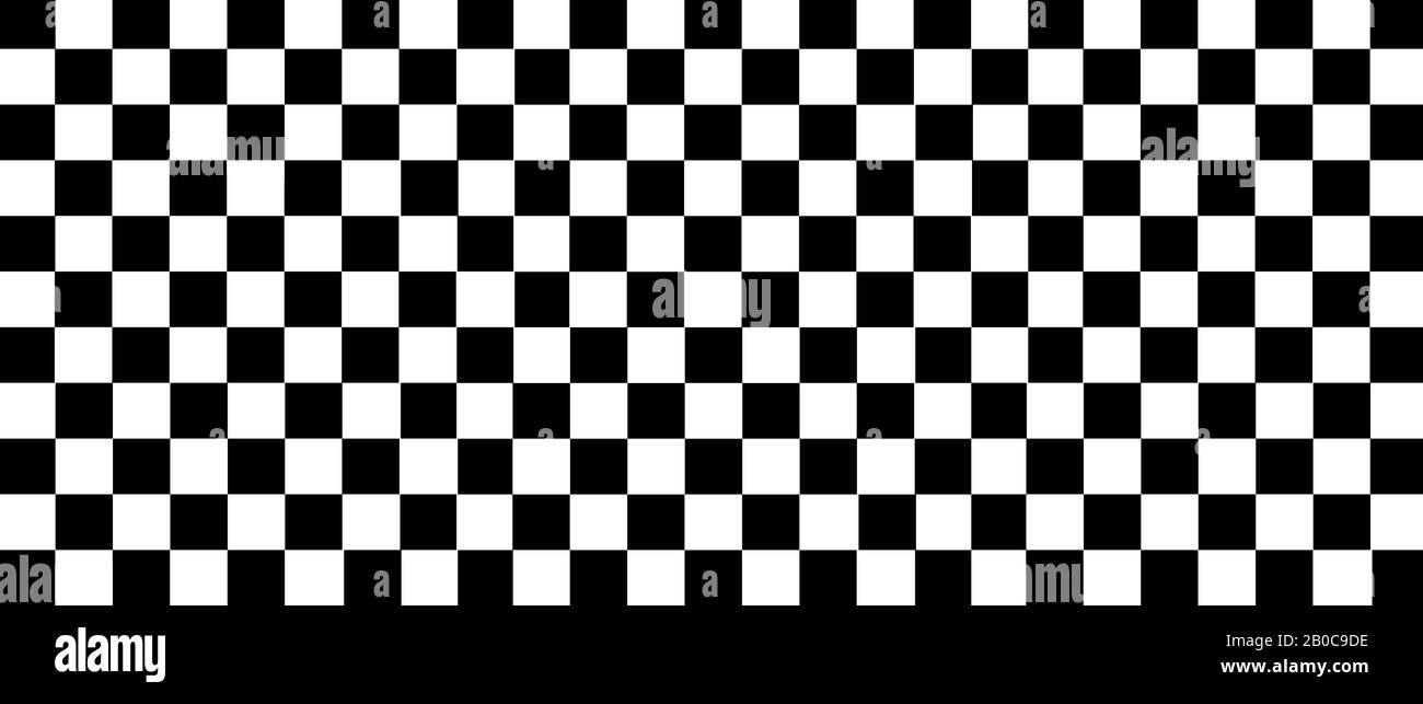 White And Black Checkered Flag For Racing Background And Texture 3d Illustration Banner Extreme Widescreen Ratio Stock Photo Alamy
