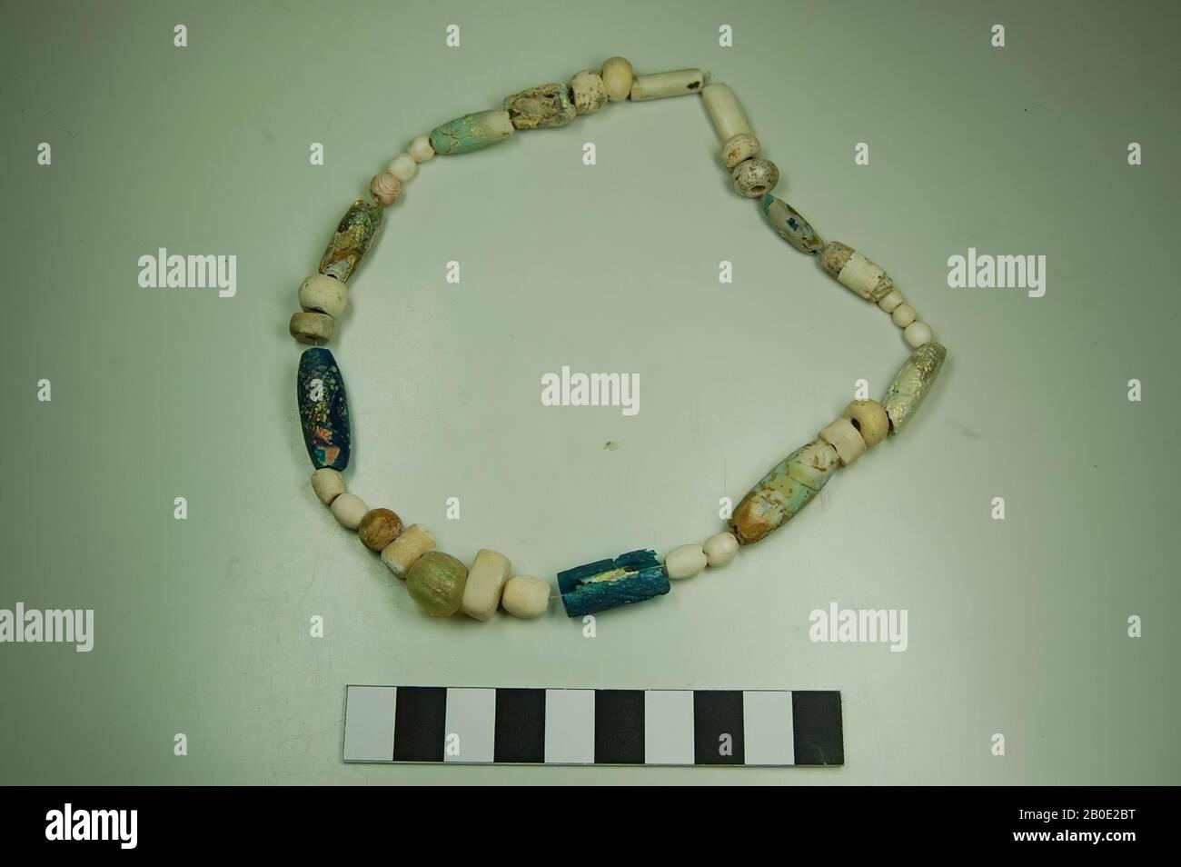6 X Roman//Byzantine decorated blue glass beads circa 400-600 AD