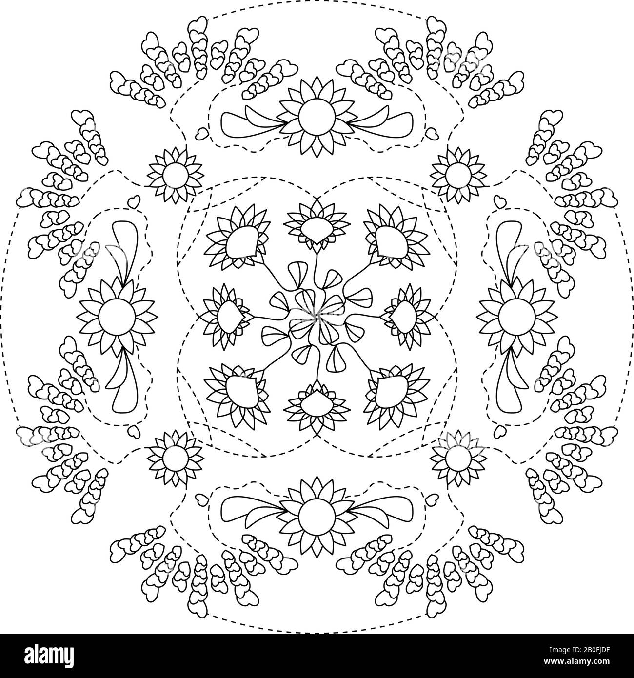 Mandala Coloring Page Art Therapy Illustration Vector Decorative Element Anti Stress Coloring Page Stock Vector Image Art Alamy