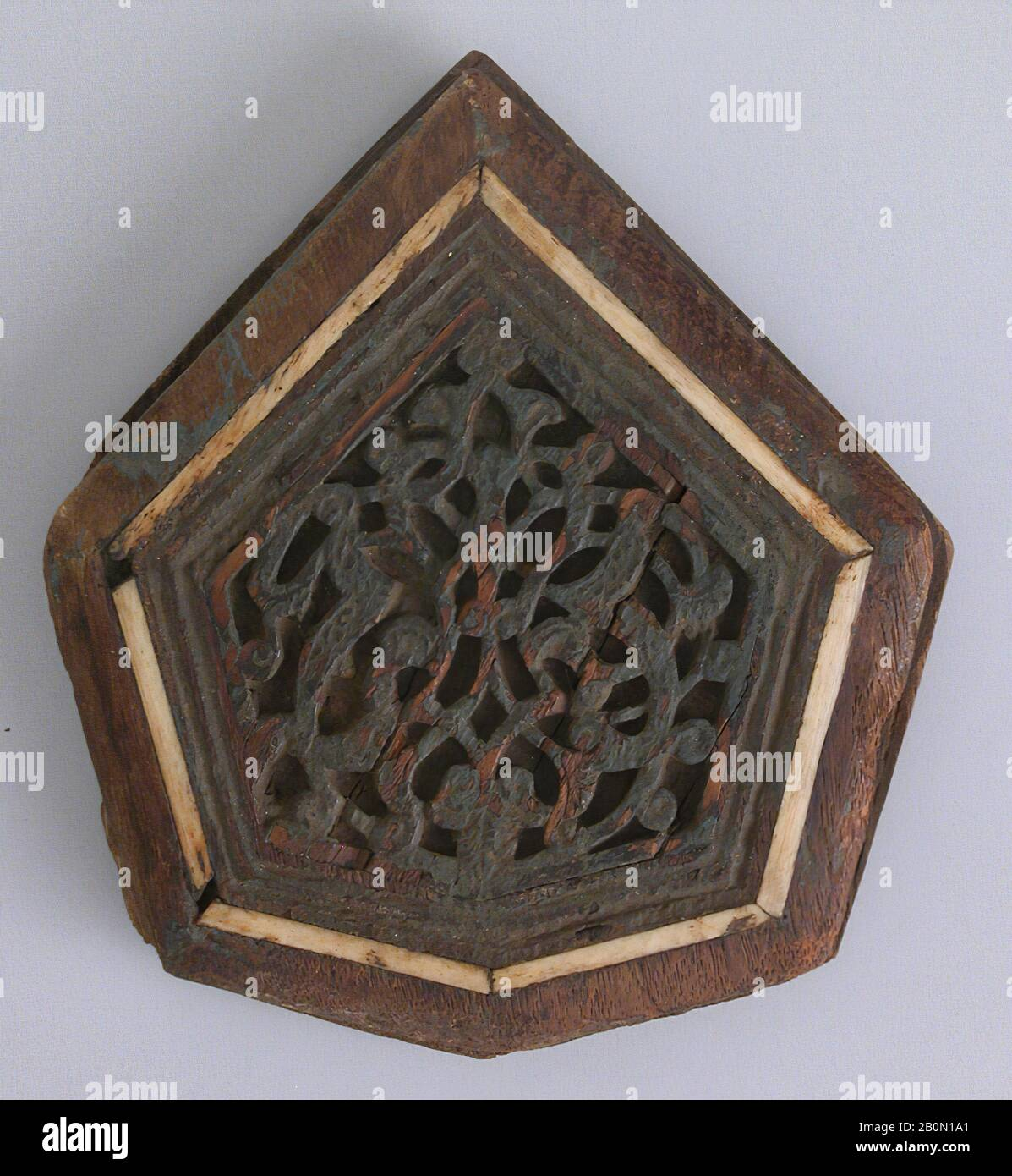 Panel 13th 14th Century Attributed To Egypt Cairo Wood Carved Inlaid With Ivory Or Bone Wood Stock Photo Alamy