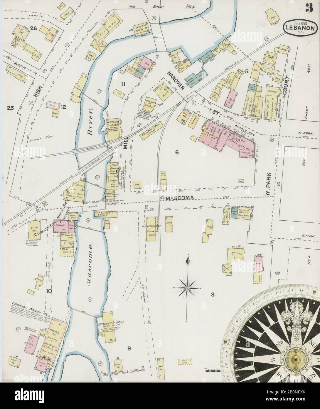 Image 3 Of Sanborn Fire Insurance Map From Lebanon Grafton County New Hampshire Aug 1889 6 Sheet S America Street Map With A Nineteenth Century Compass Stock Photo Alamy,Best Places To Travel In December And January
