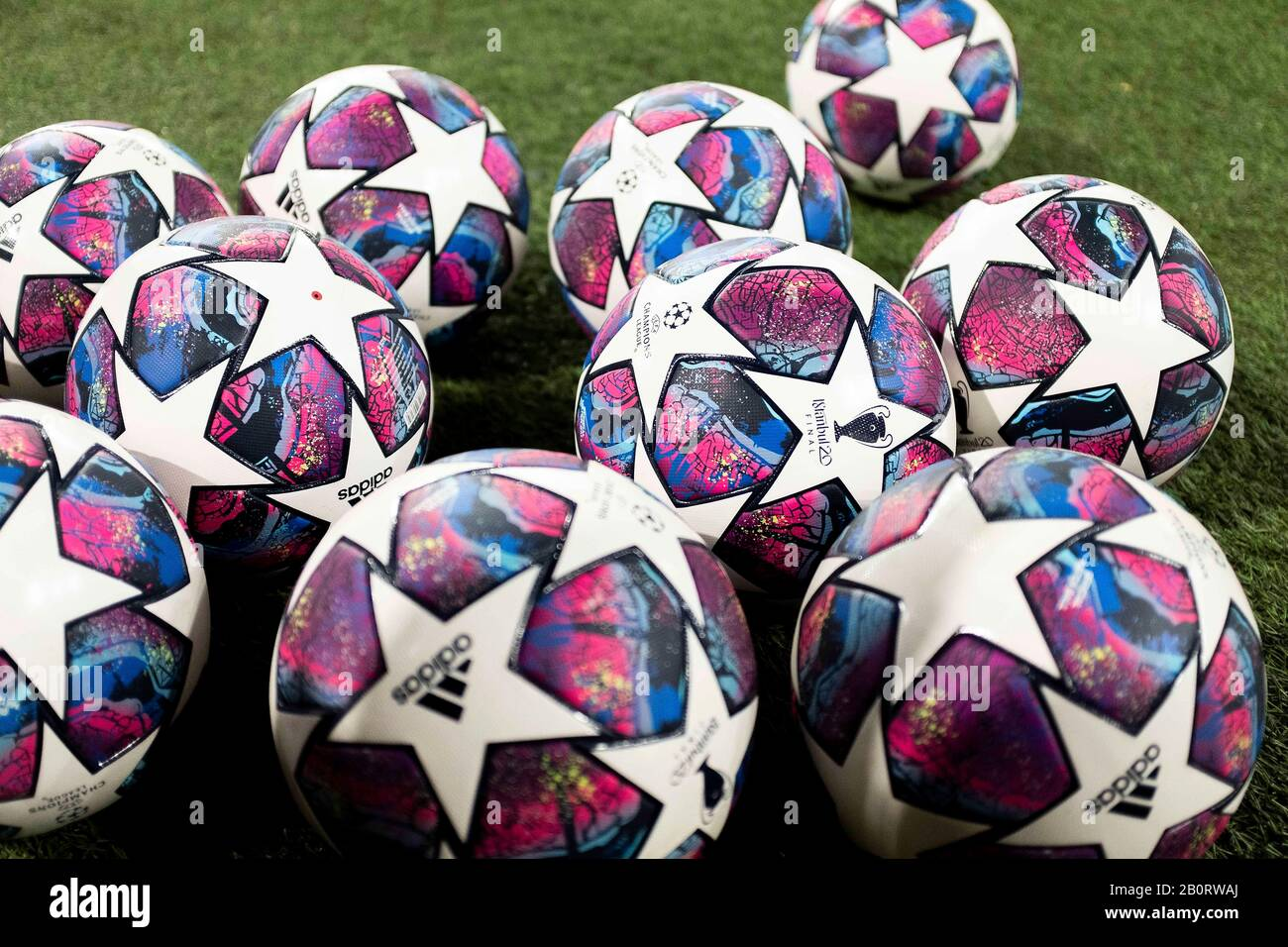 close up of adidas champions league football high resolution stock photography and images alamy alamy