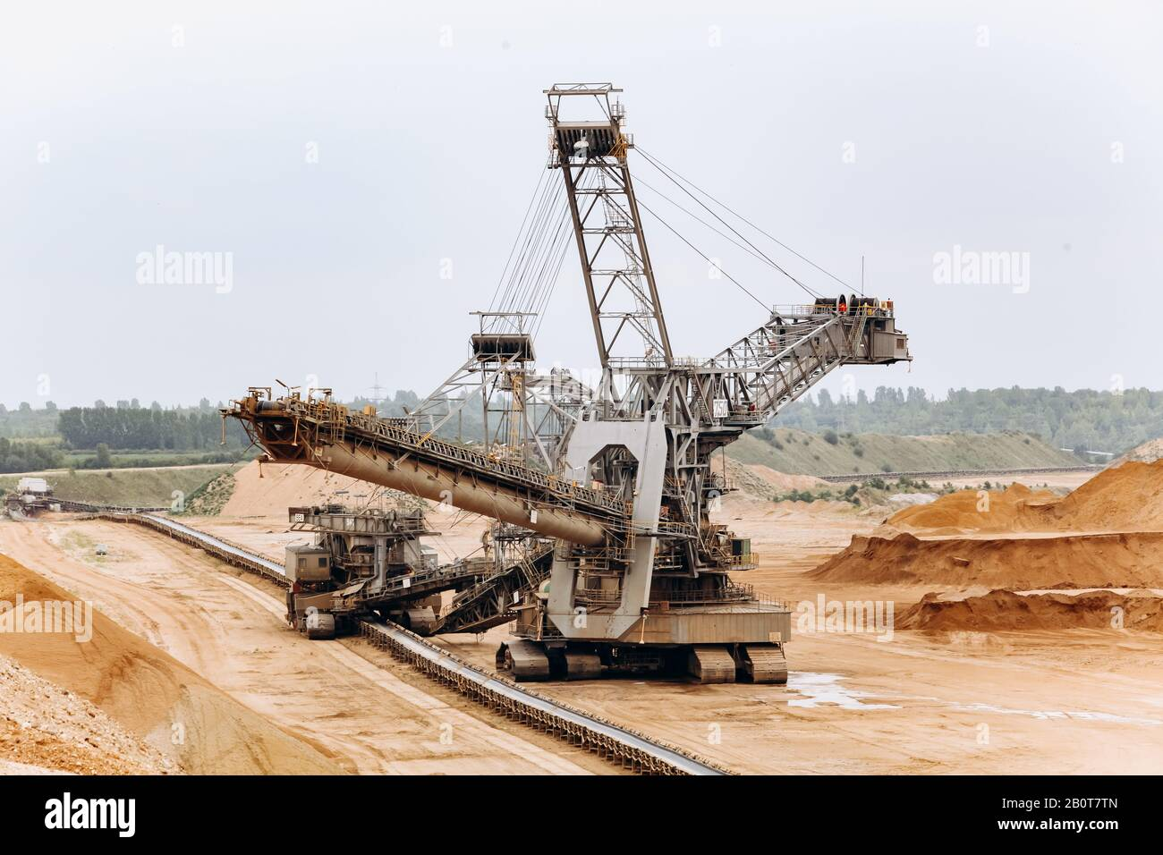 Giant Bucket Wheel Excavator The Biggest Excavator In The World The Largest Land Vehicle Excavator In The Mines Stock Photo Alamy