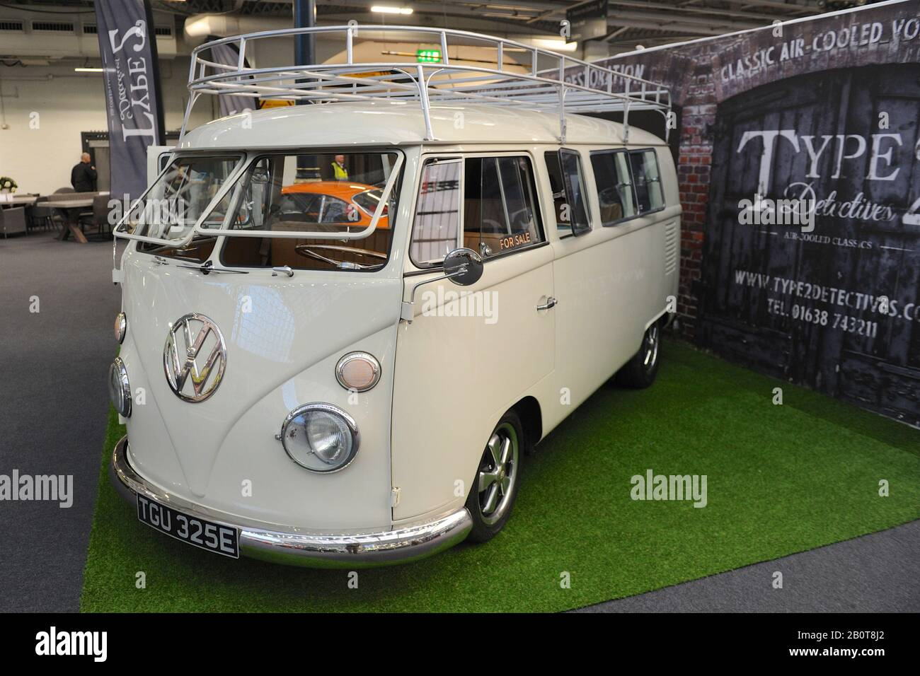 a vintage vw camper van on display at the london classic car show which opened today https www alamy com a vintage vw camper van on display at the london classic car show which opened today in olympia london united kingdom more than 500 of the worlds finest classic cars and marques worth 70 million are on display at the show ranging from vintage pre war tourers to a modern concept cars the show brings in around 20000 visitors ranging from serious petrol heads to people who just love beautiful and classic vehicles image344740986 html