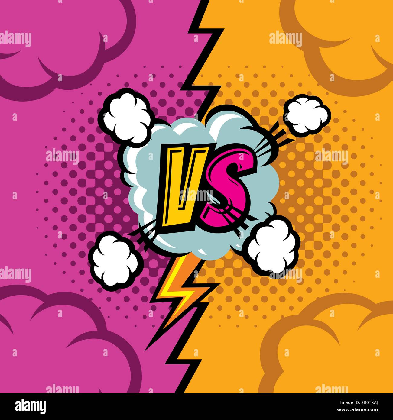 Versus Vector Cartoon Comic Book Background Fighting Duel Championship Retro Art Competition And Confrontation Compare And Battle Illustration Stock Vector Image Art Alamy