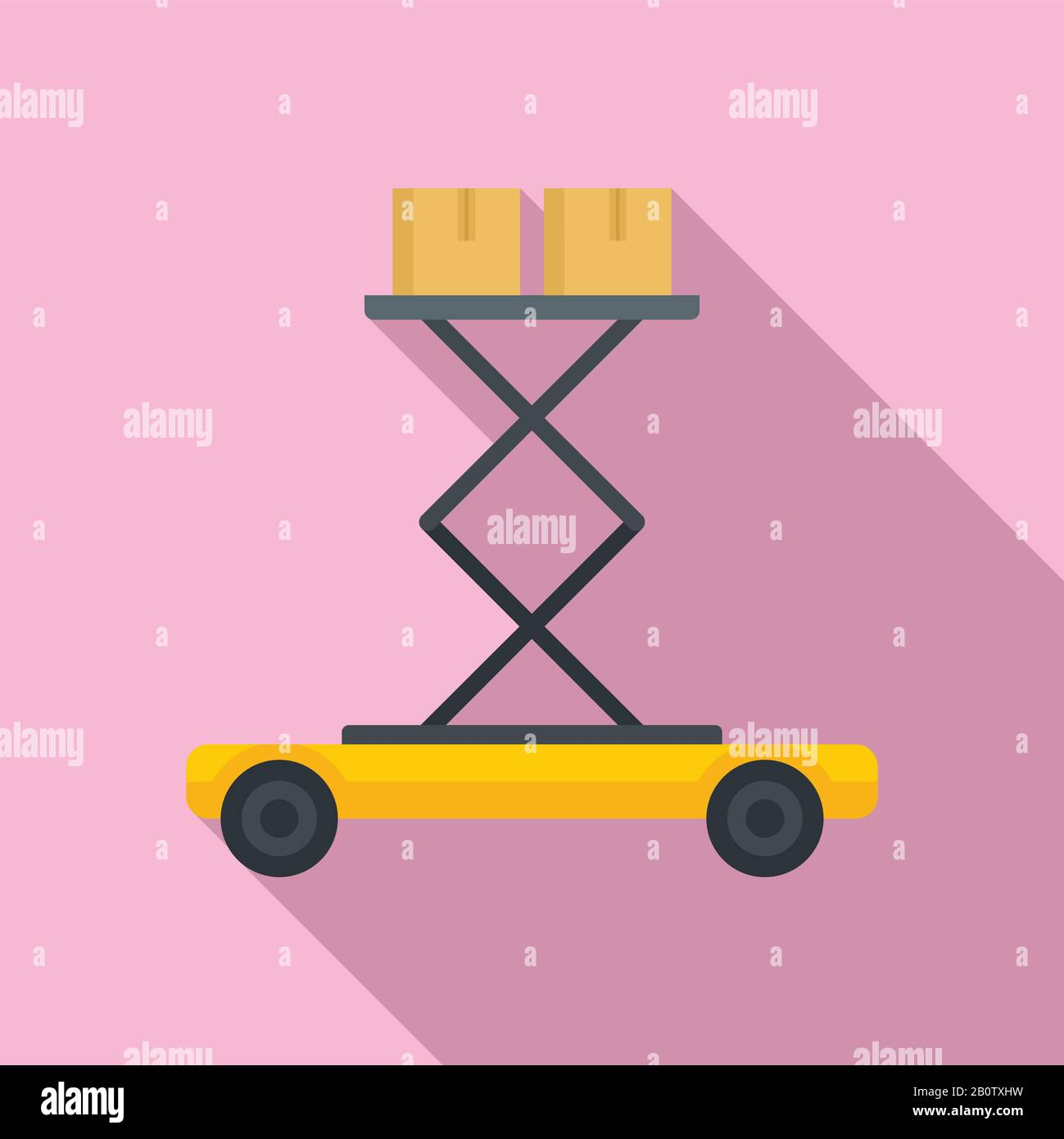 Lift platform icon. Flat illustration of lift platform vector icon for web design Stock Vector