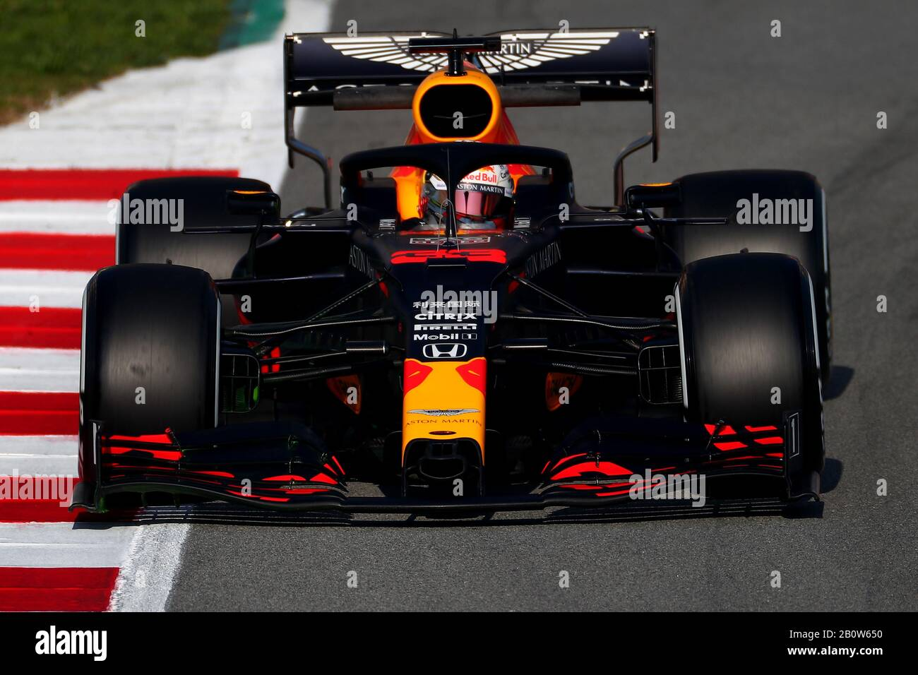 Barcelona Spain 21st Feb 2020 33 Max Verstappen Aston Martin Red Bull Racing Honda Formula 1