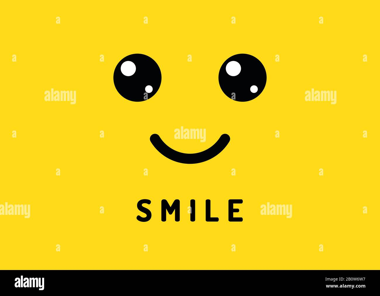 Happy Smile Smiling Face On Yellow Background Laughter Logo Funny Vector Banner Stock Vector Image Art Alamy