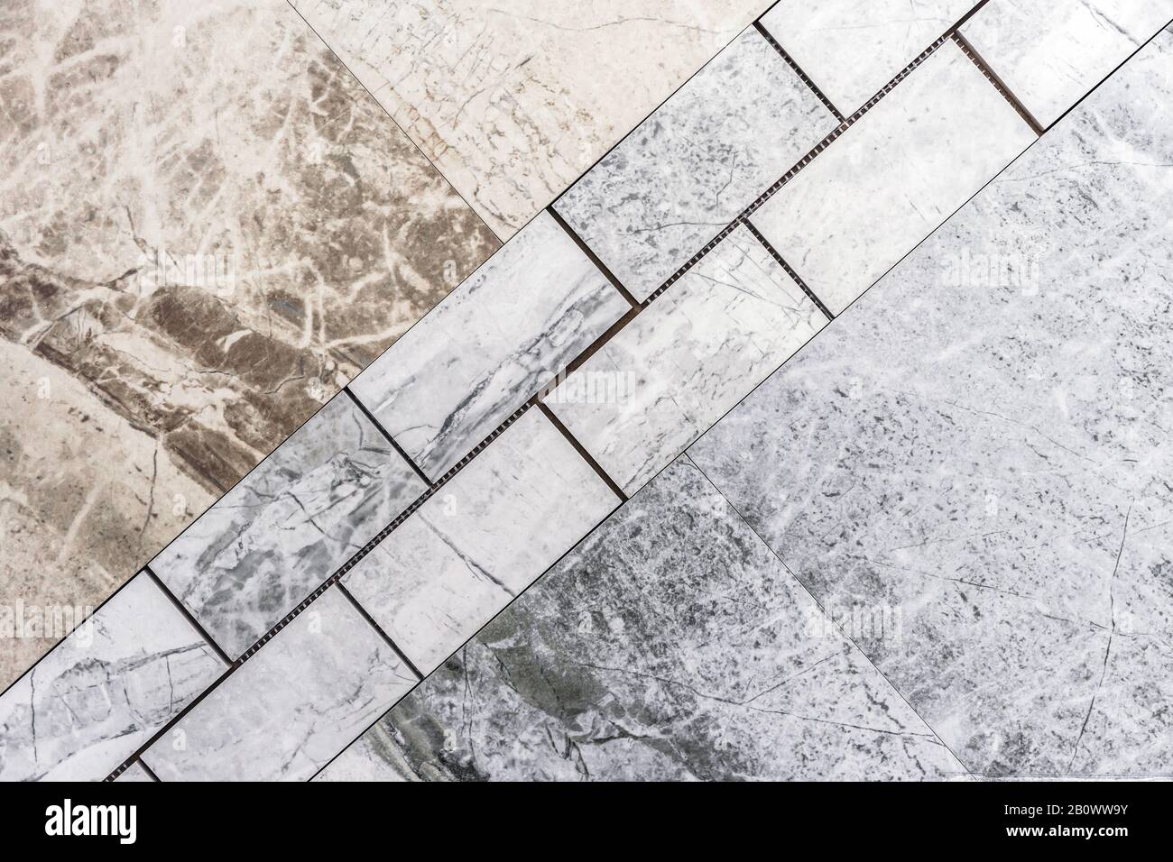 Marble Tiles In Gray And Beige Natural Marble Stock Photo Alamy