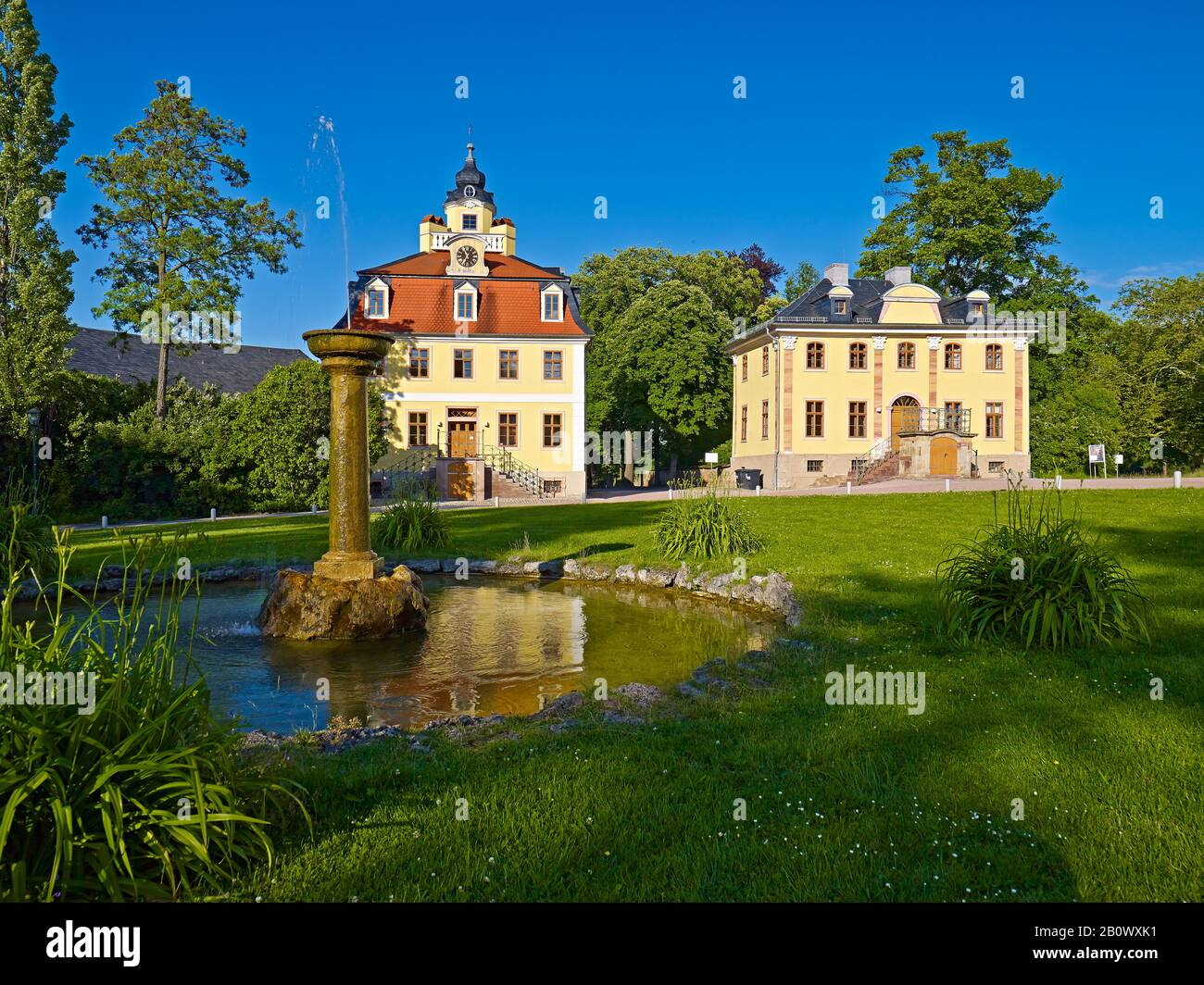 Cavalier houses in Belvedere near Weimar, Thuringia, Germany, Europe Stock Photo