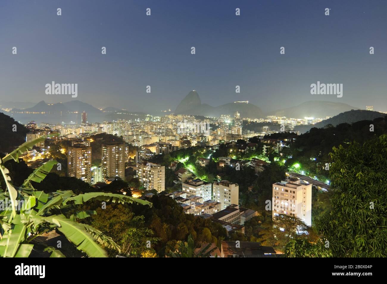 View of Rio de Janeiro with sugar loaf, Brazil, South America, Stock Photo