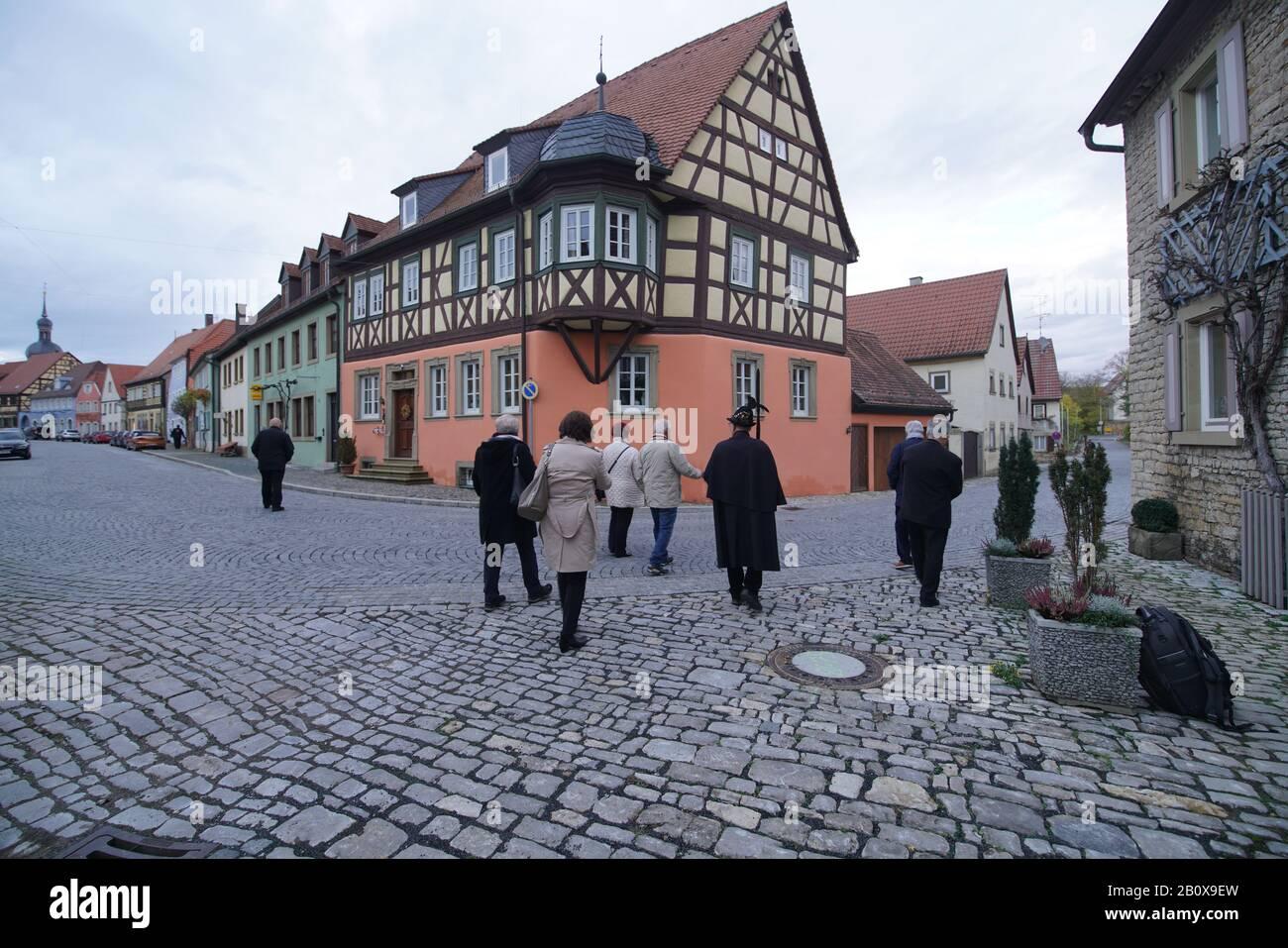 Ortsansicht historisches Prichsenstadt Stock Photo