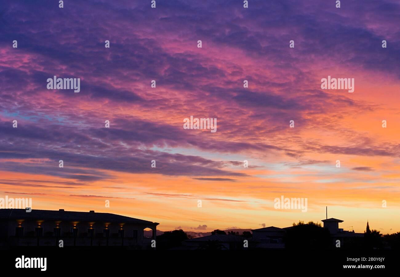 Sunrise Palma de Mallorca, Mallorca, Balearic Islands, Spain, Europe Stock Photo