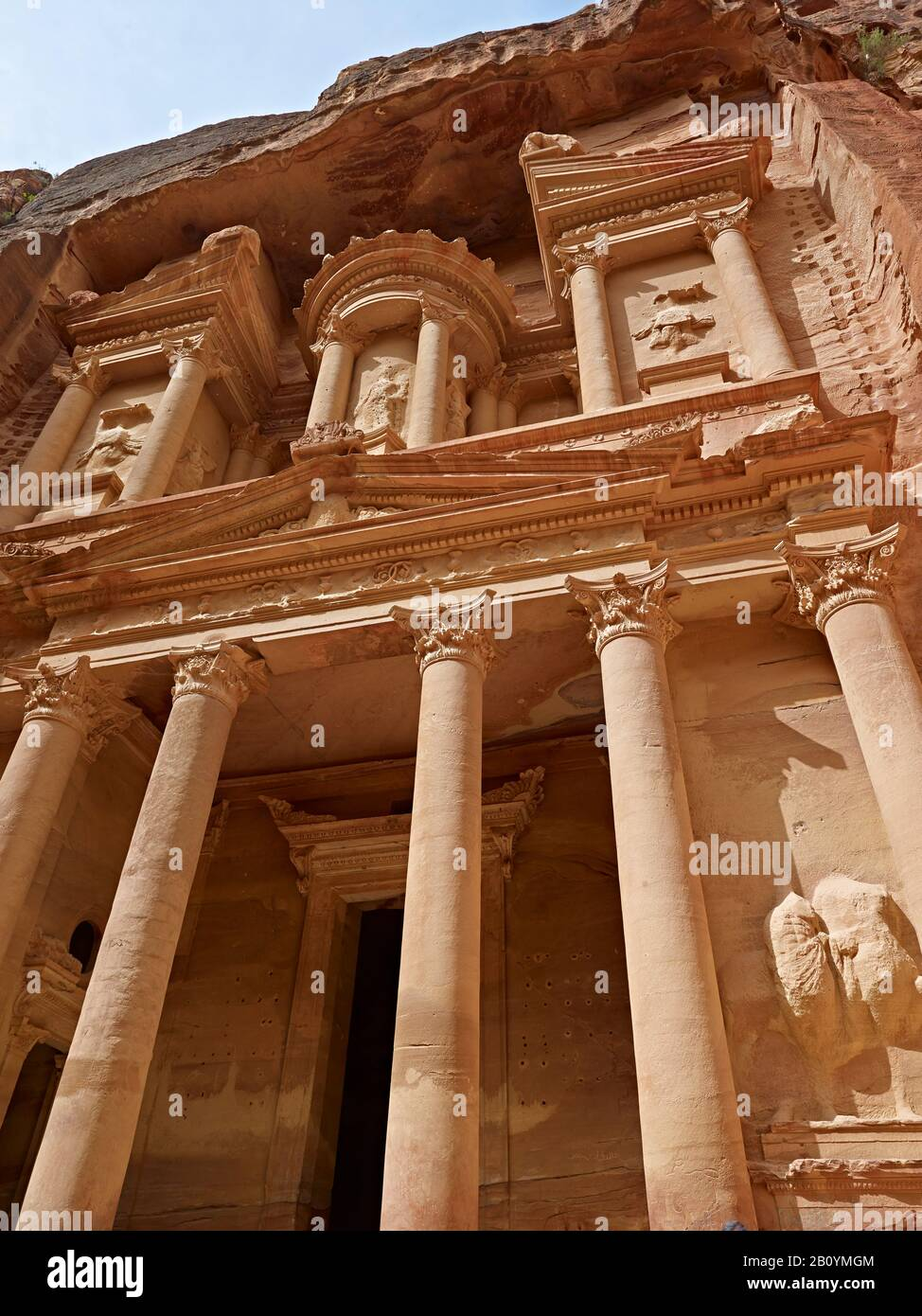 The Treasury or the Khazne in the rock city of Petra, Jordan, Middle East, Stock Photo