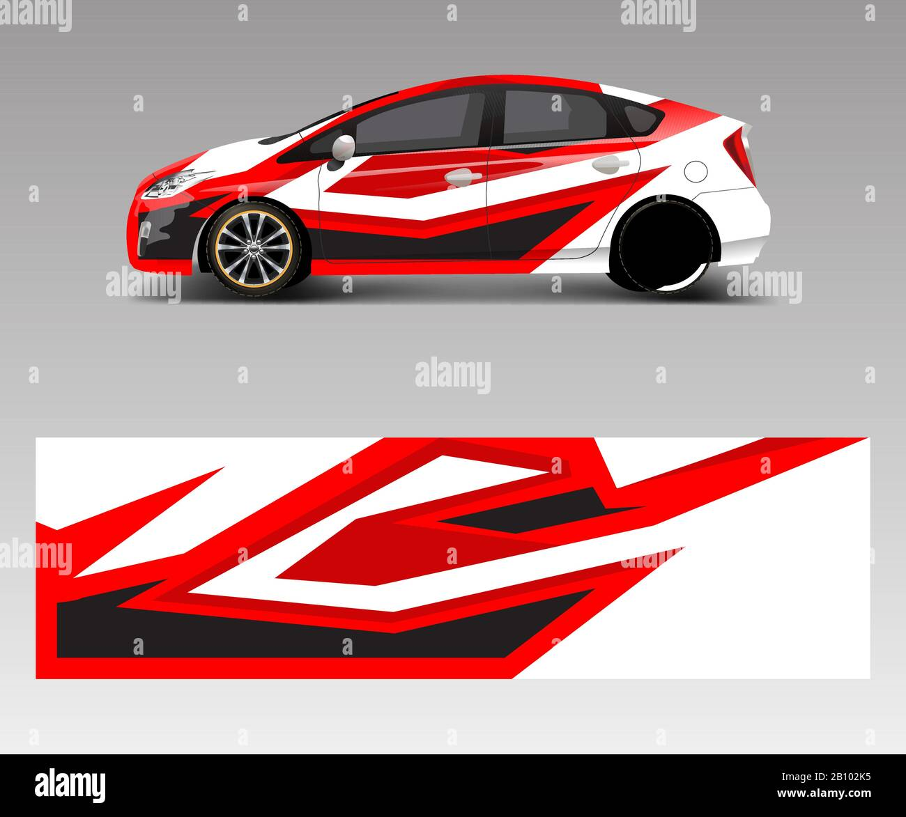 Car Decal Wrap Design Vector With Wave Element Graphic Abstract Wave Shapes Racing For Vehicle Race Car Template Design Vector Stock Vector Image Art Alamy
