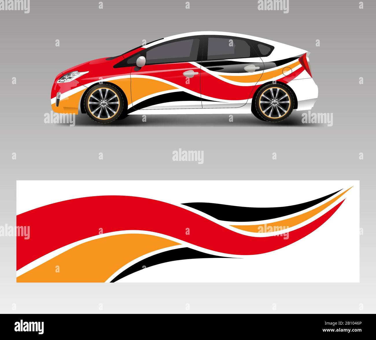 Car Decal Graphic Vector Wrap Vinyl Sticker Graphic Abstract Wave Shape Designs For Branding Race And Drift Car Template Design Vector Stock Vector Image Art Alamy