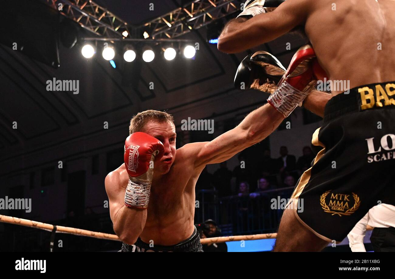 Bethnal Green, United Kingdom. 21st Feb, 2020. Zigimantas Butkevicius. Preliminary bout 3. MTK Golden contract boxing semi finals. York Hall. Bethnal Green. London. UK. Credit Garry Bowden/Sport in Pictures/Alamy Live News. Credit: Sport In Pictures/Alamy Live News Stock Photo