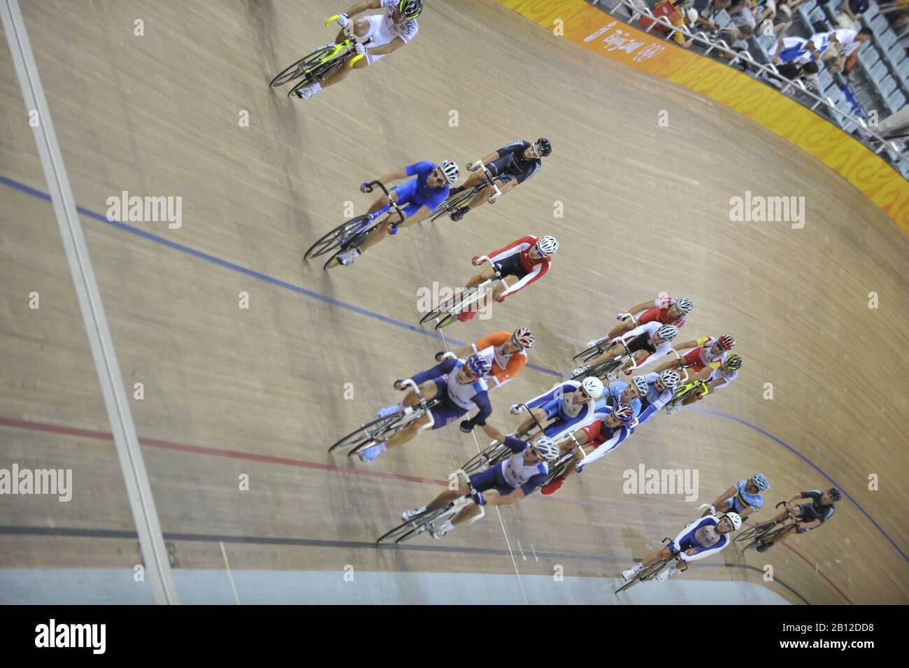 Beijing, CHINA.   Cycling, . Laosham Velodrome, Tuesday - 19/08/2008, [Mandatory Credit: Peter SPURRIER, Intersport Images] Stock Photo