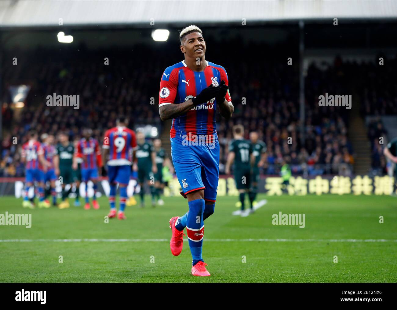 Selhurst Park, London, UK. 22nd Feb, 2020. English Premier League Football, Crystal Palace versus Newcastle United; Patrick van Aanholt of Crystal Palace applauds the fans after the final whistle Credit: Action Plus Sports/Alamy Live News Stock Photo