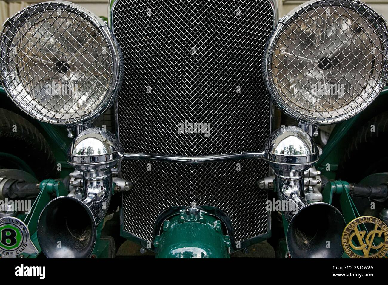 Bentley,distinctive headlights,grille,classic car,historic vehicle,Hamburg,Germany,Europe Stock Photo
