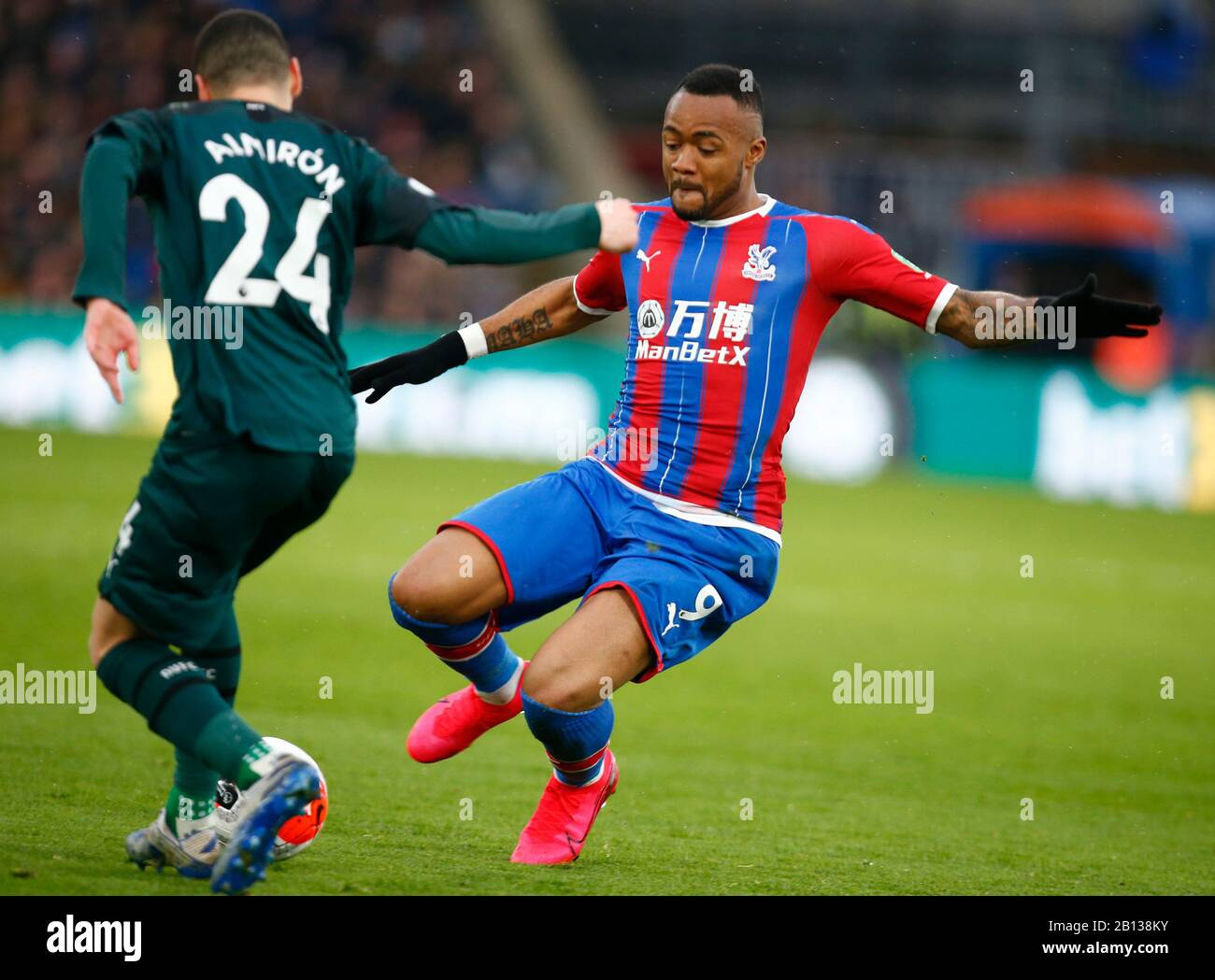 LONDON, UNITED KINGDOM. FEBRUARY 22 Crystal Palace's Jordan Ayew during English Premier League between Crystal Palace and Newcastle United at Selhurst Park Stadium, London, England on 22 February 2020 Credit: Action Foto Sport/Alamy Live News Stock Photo