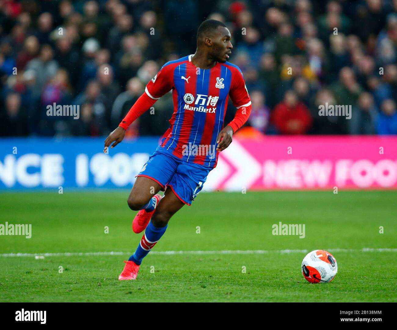 LONDON, UNITED KINGDOM. FEBRUARY 22 Crystal Palace's Christian Benteke during English Premier League between Crystal Palace and Newcastle United at Selhurst Park Stadium, London, England on 22 February 2020 Credit: Action Foto Sport/Alamy Live News Stock Photo