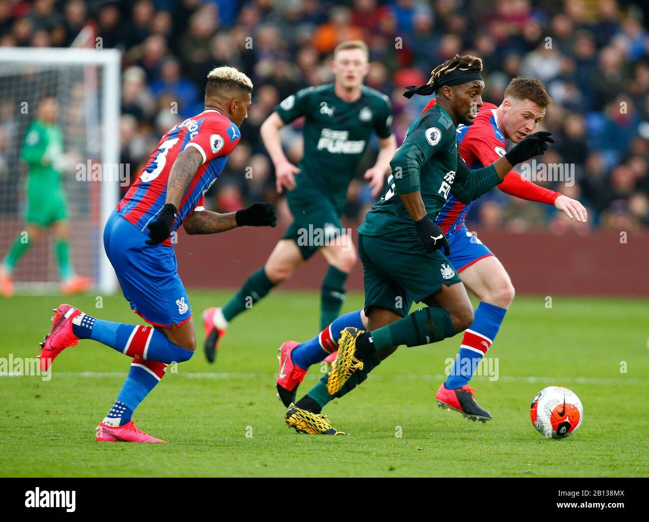 LONDON, UNITED KINGDOM. FEBRUARY 22 Newcastle United's Allan Saint-Maximin during English Premier League between Crystal Palace and Newcastle United at Selhurst Park Stadium, London, England on 22 February 2020 Credit: Action Foto Sport/Alamy Live News Stock Photo