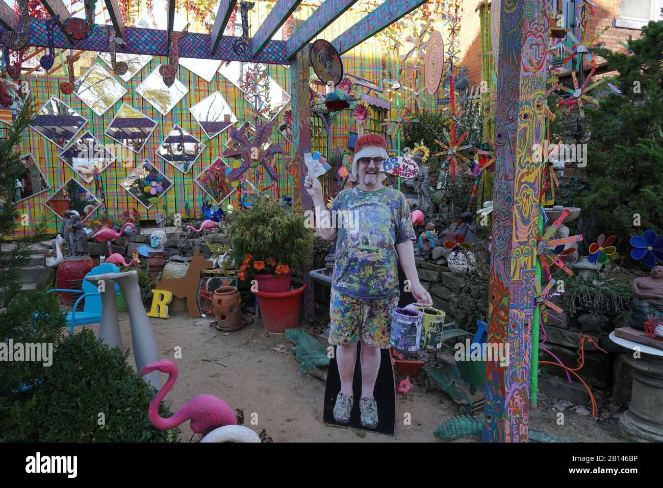 Pittsburgh, Randyland near Mattress Factory modern art museum Stock Photo