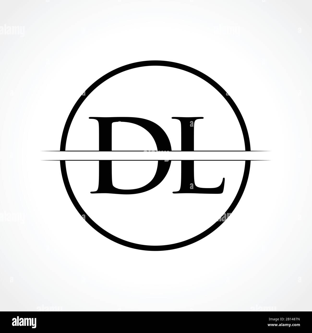 Initial Dl Letter Logo Design Vector Template With Black Color Dl Logo Design Stock Vector Image Art Alamy