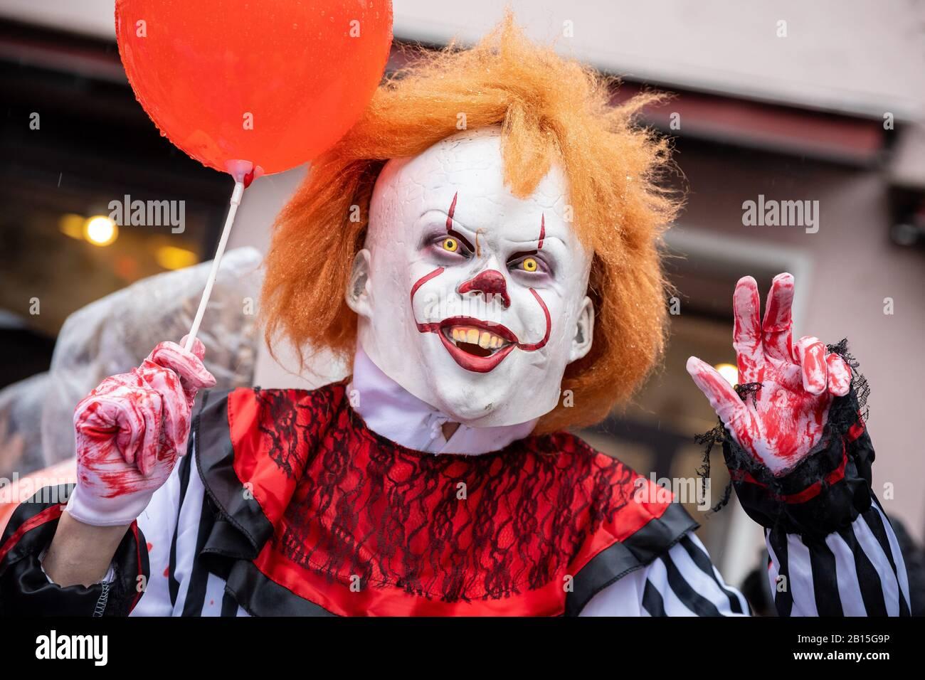 Brunswick Halloween 2020 Brunswick, Germany. 23rd Feb, 2020. A carnivalist dressed as a