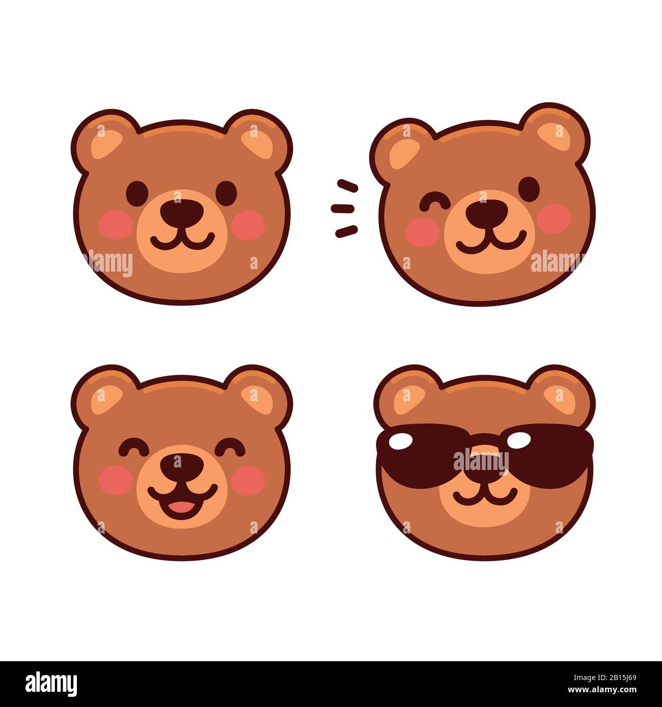 Cute Brown Square Bear - Square Animals - Free Transparent PNG Clipart  Images Download