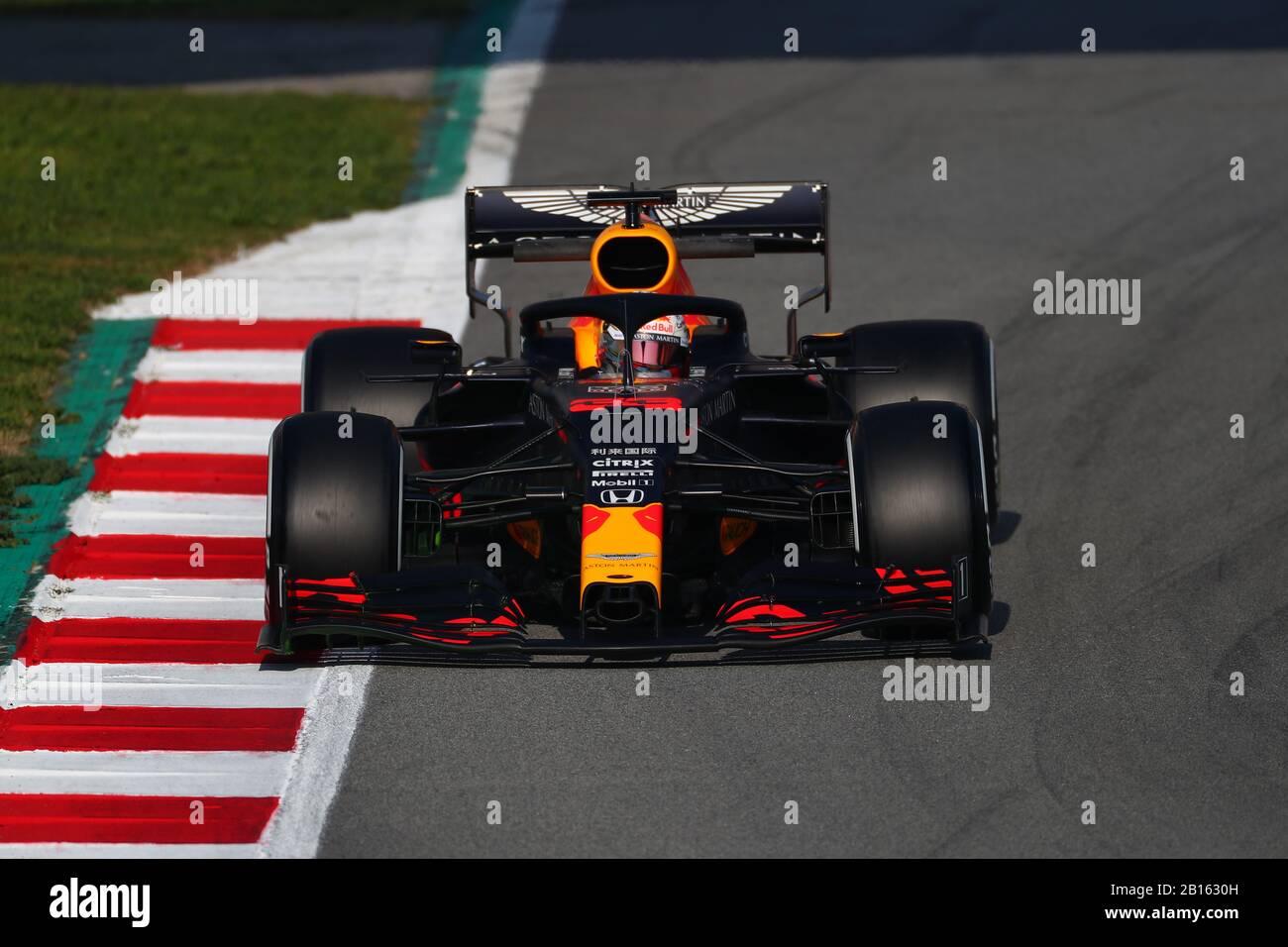 33 Max Verstappen Aston Martin Red Bull Racing Honda Formula 1 World Championship 2020 Winter Testing Days 1 2020 Barcelona 19 21 February 2020 Stock Photo Alamy