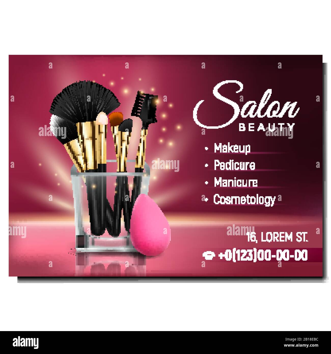 Salon Beauty Cosmetology Advertising Banner Vector Stock Vector Image Art Alamy