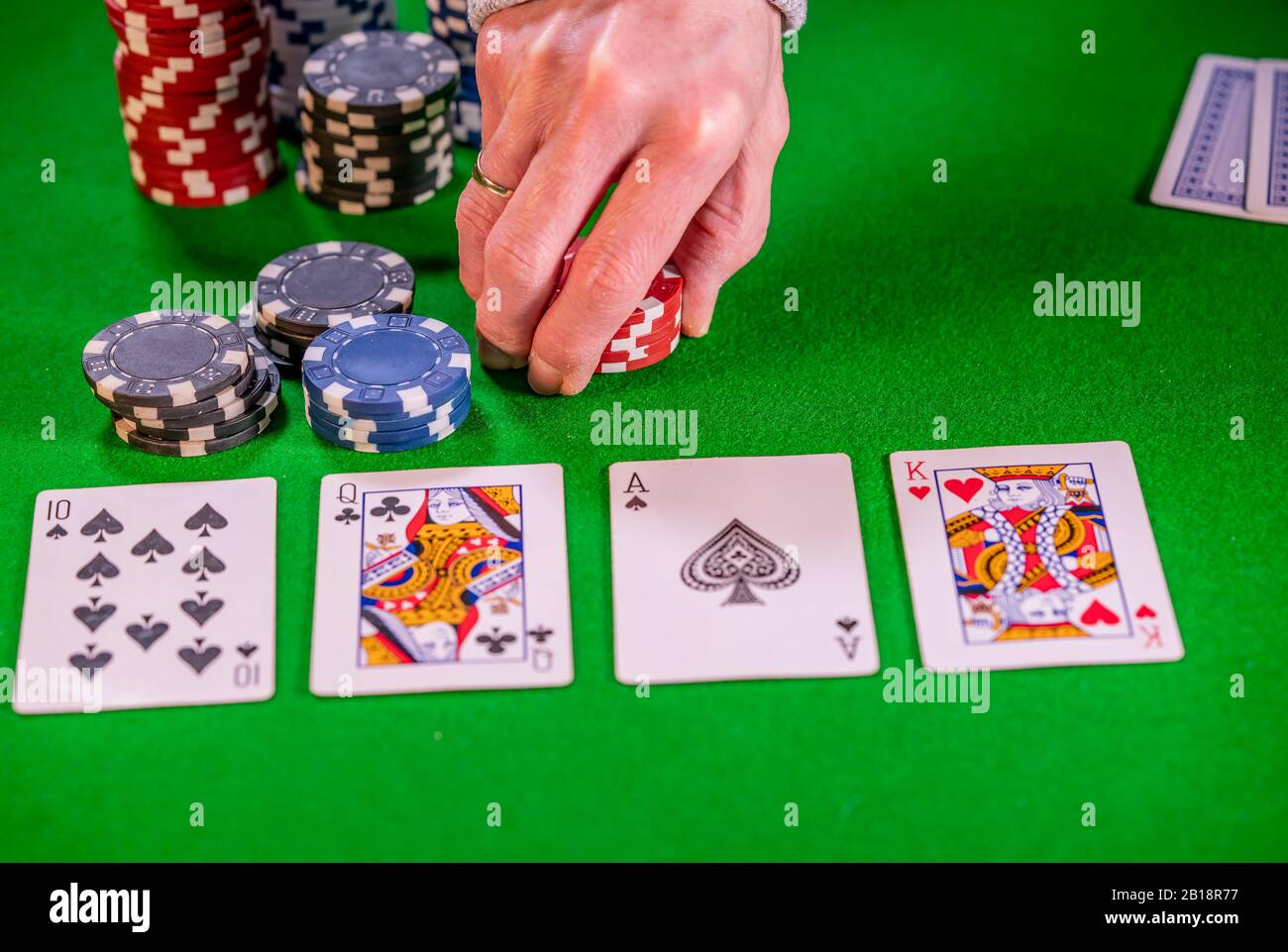 Placing Bet High Resolution Stock Photography And Images Alamy