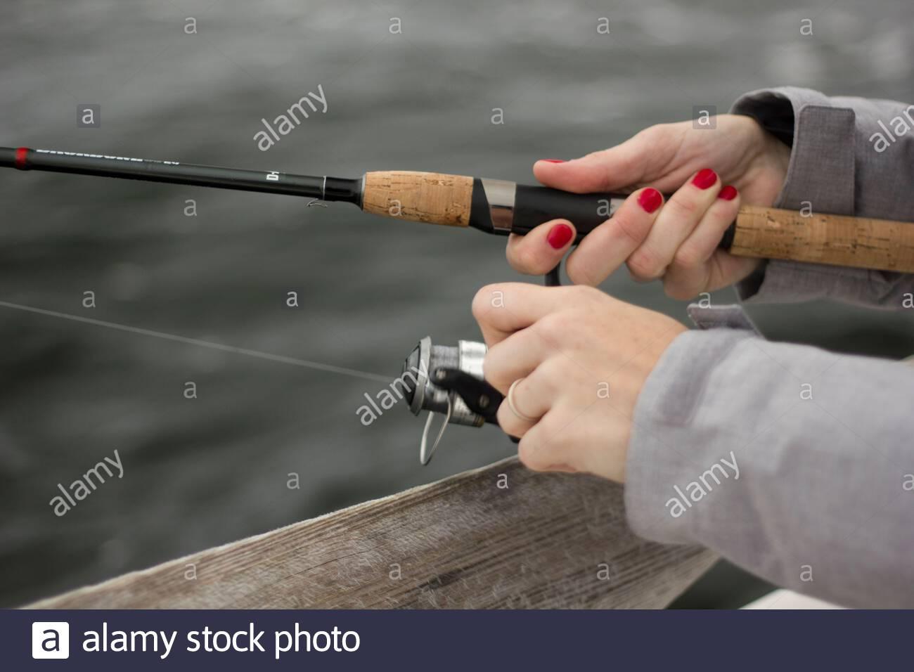 girl's fishing too! Stock Photo
