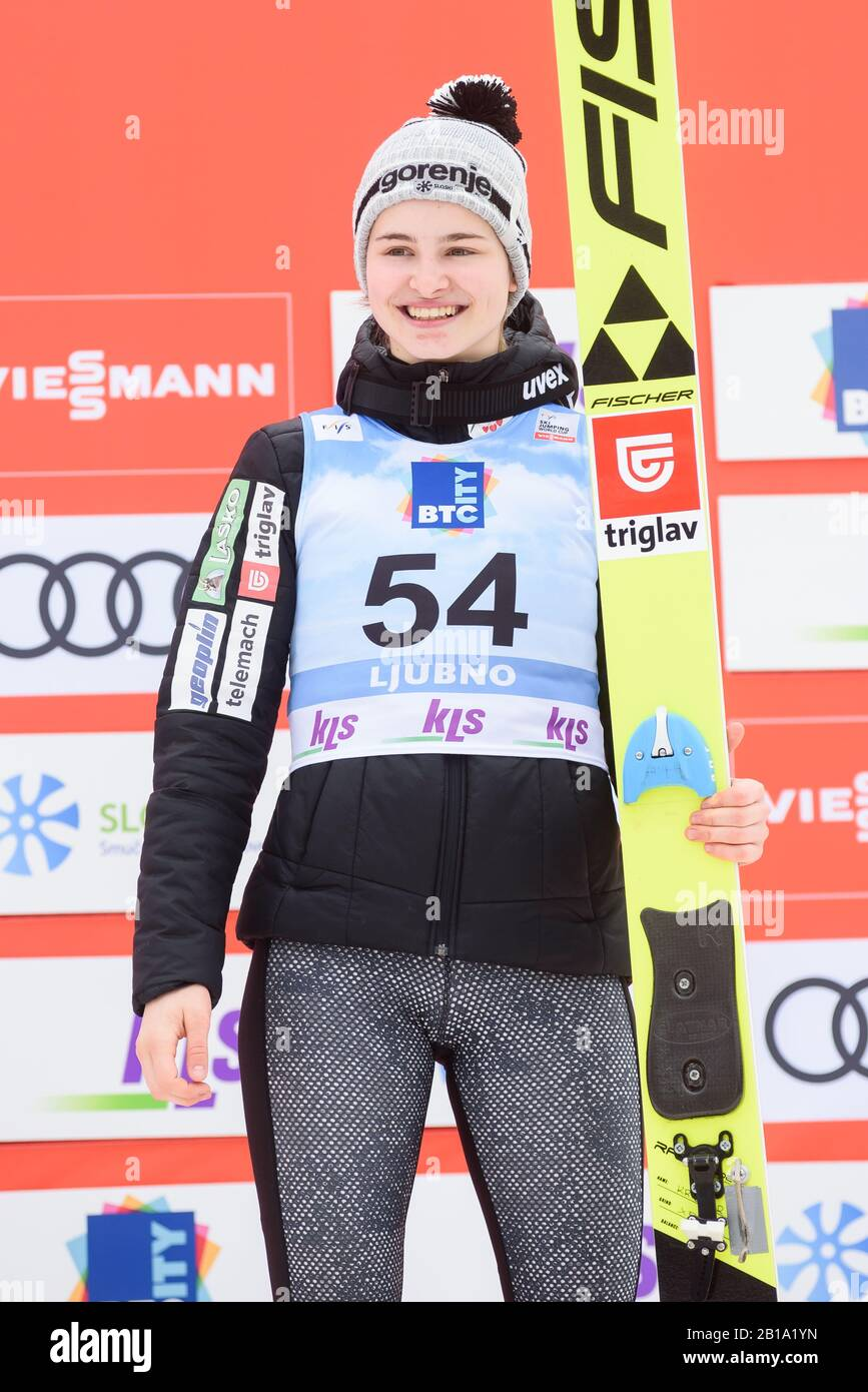 Estadísticas Prefijo ballet  Nika Kriznar of Slovenia celebrates her third place at the FIS Ski Jumping  World Cup Ljubno 2020 February 23, 2020 in Ljubno, Slovenia. (Photo by Rok  Rakun/Pacific Press/Sipa USA Stock Photo - Alamy