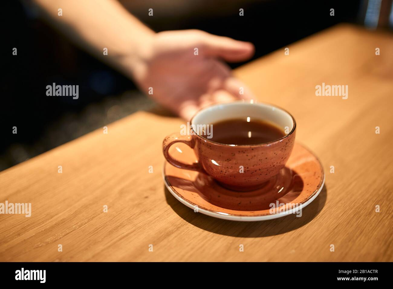 Man Offers Good Hot Tea For Tea Lovers Good Morning Beverage For Mood Close Up Photo Help Yourself Stock Photo Alamy