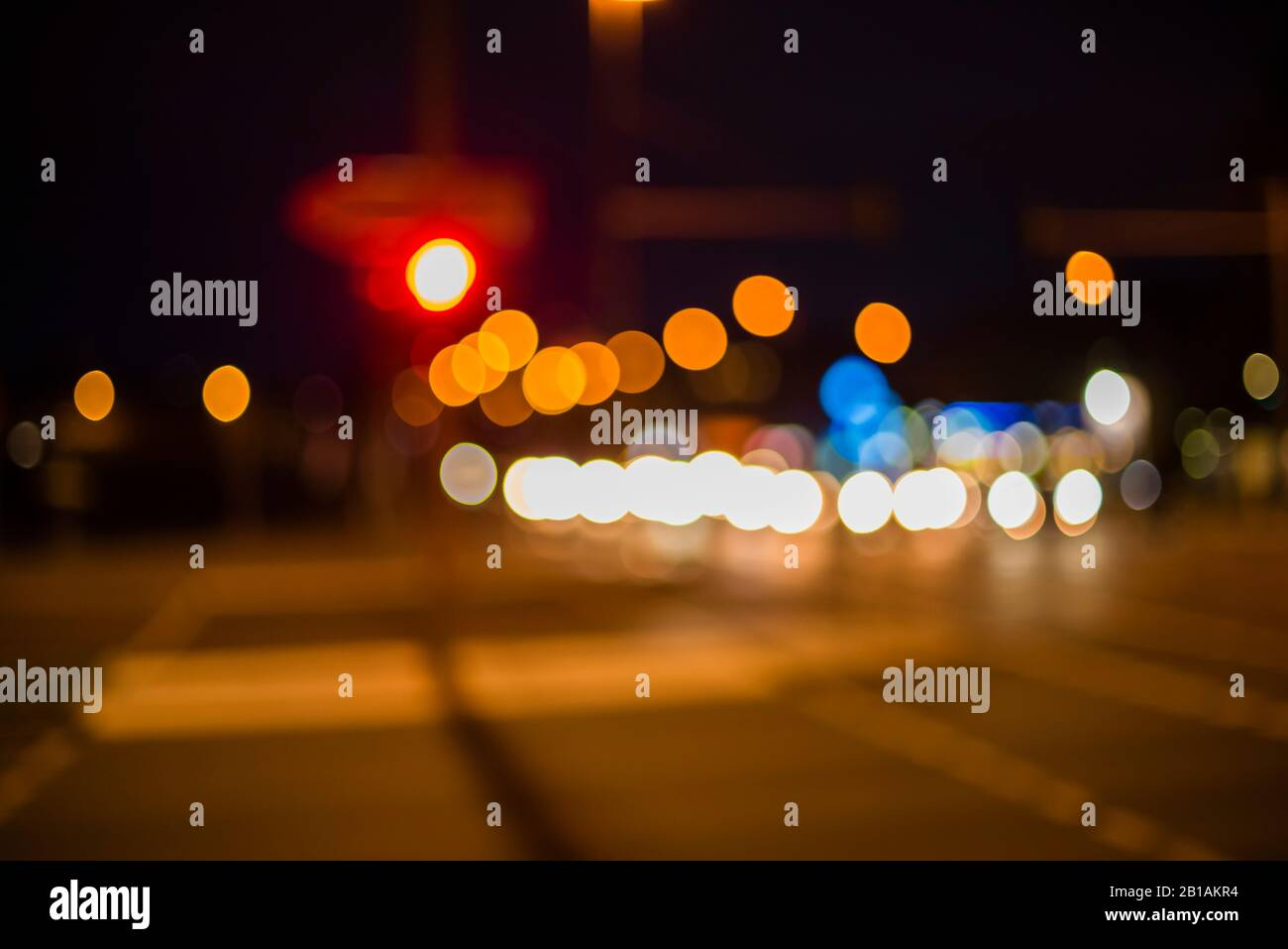 Bokeh Photography In Urban Environment Beautiful Bokeh Street Lights Car Lights Traffic Lights Out Of Focus Stock Photo Alamy
