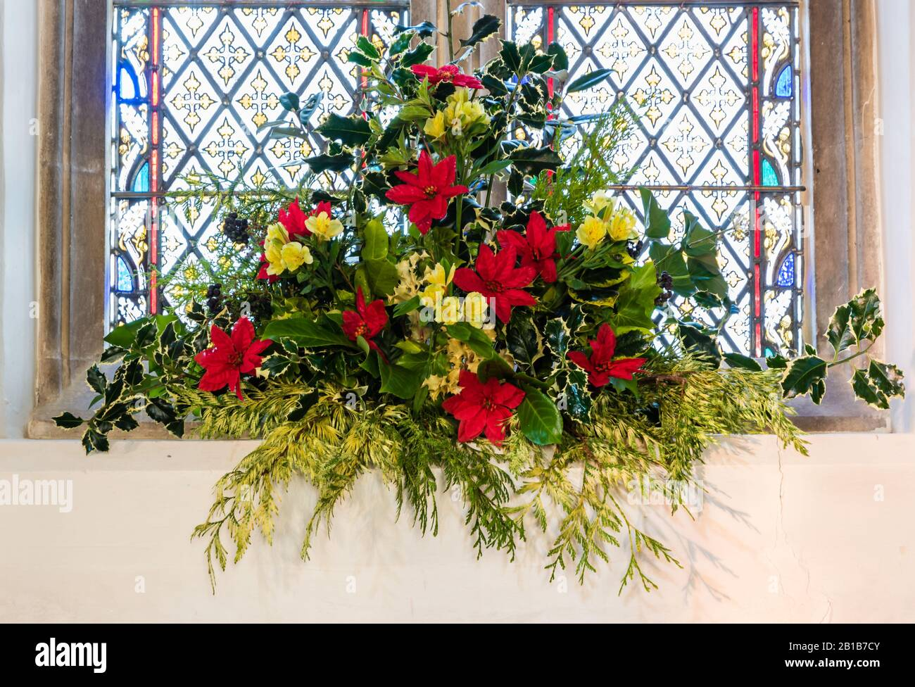 Christmas Flowers Church High Resolution Stock Photography And Images Alamy