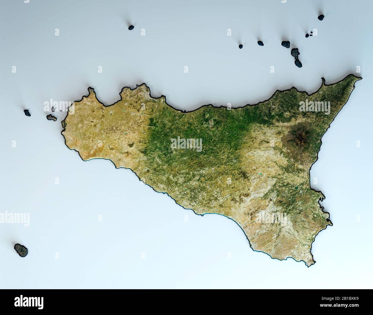 Cartina Sicilia Satellite.Palermo Satellite View Sicily Italy High Resolution Stock Photography And Images Alamy