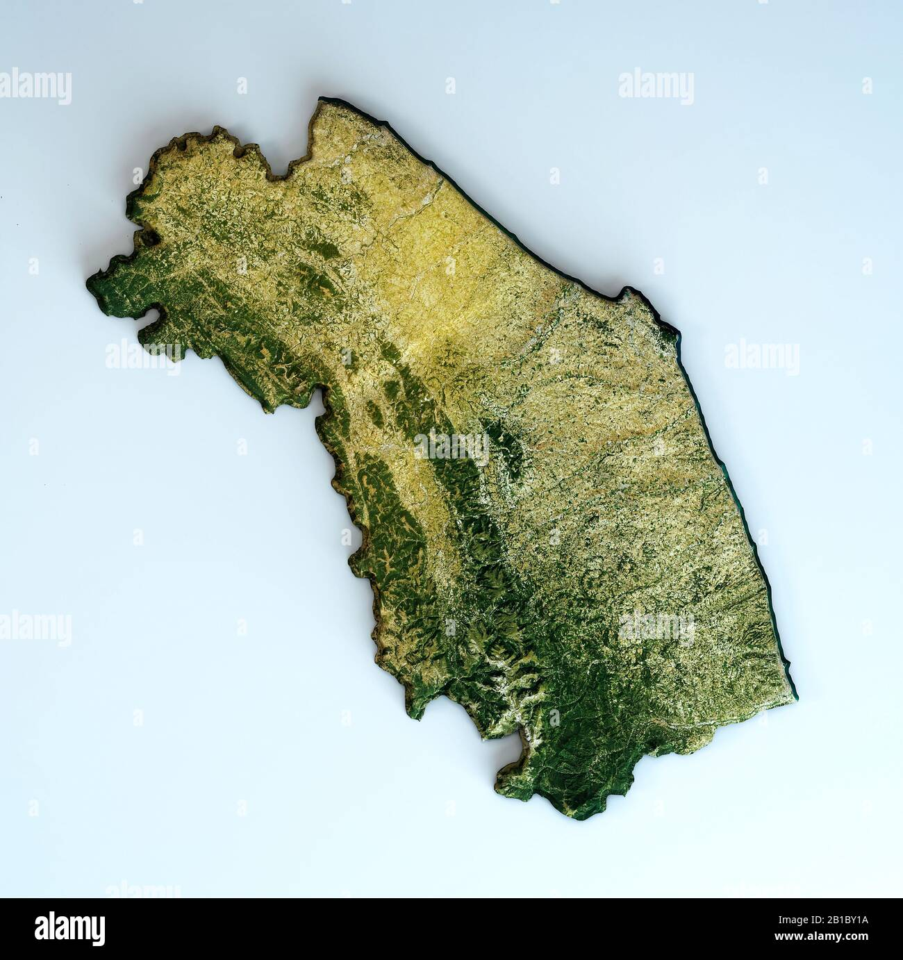 Marche Cartina Province.Marche Map High Resolution Stock Photography And Images Alamy