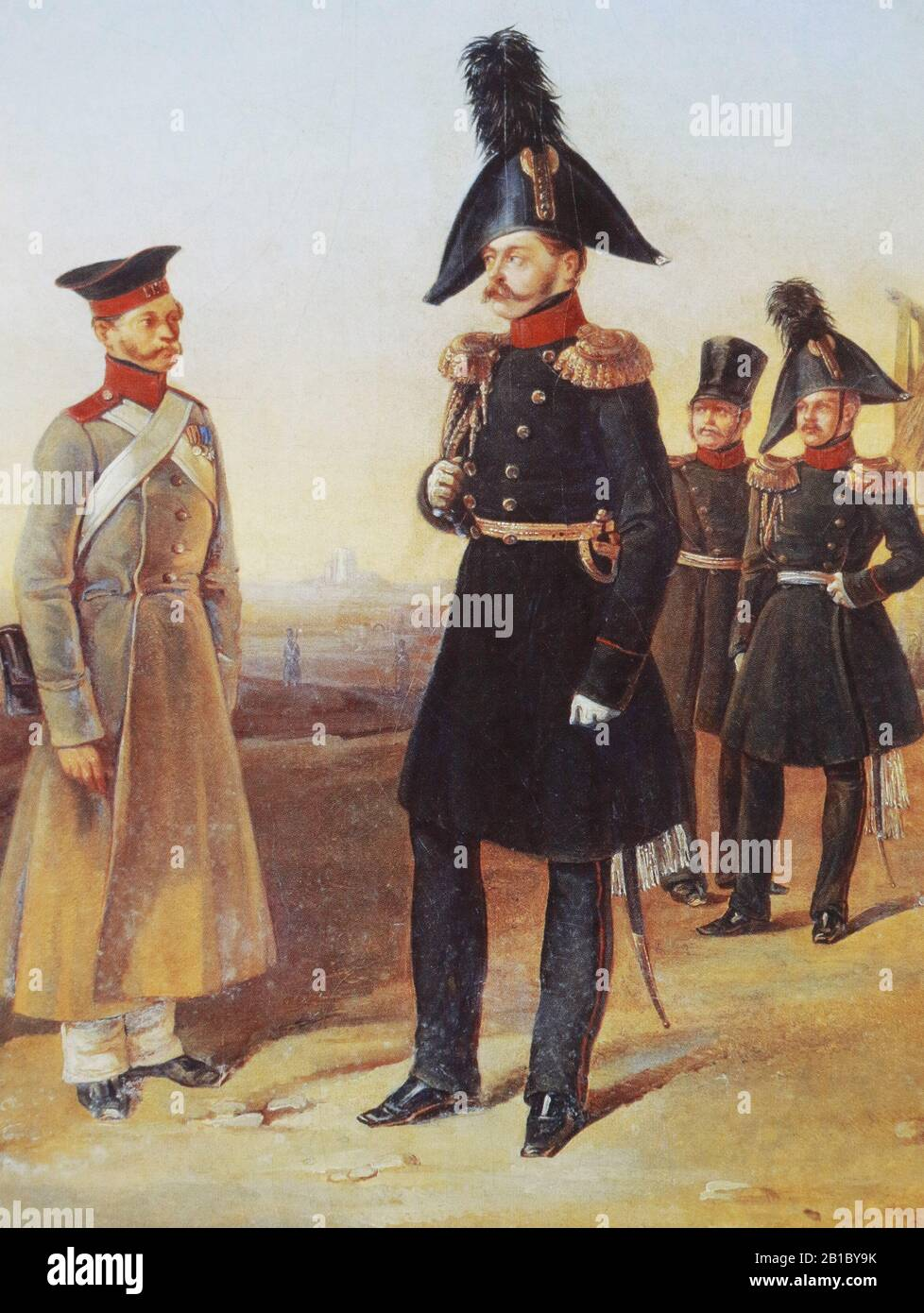 Grand Duke Mikhail Pavlovich - son of the Russian Emperor Paul I. Painting by Dorier, 19th century Stock Photo