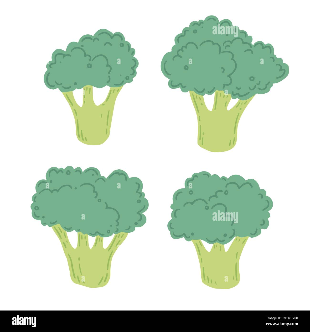 broccoli vector illustration isolated set concept of healthy food vegetable for background icon design broccoli have abstract cartoon hand drawn style stock vector image art alamy alamy