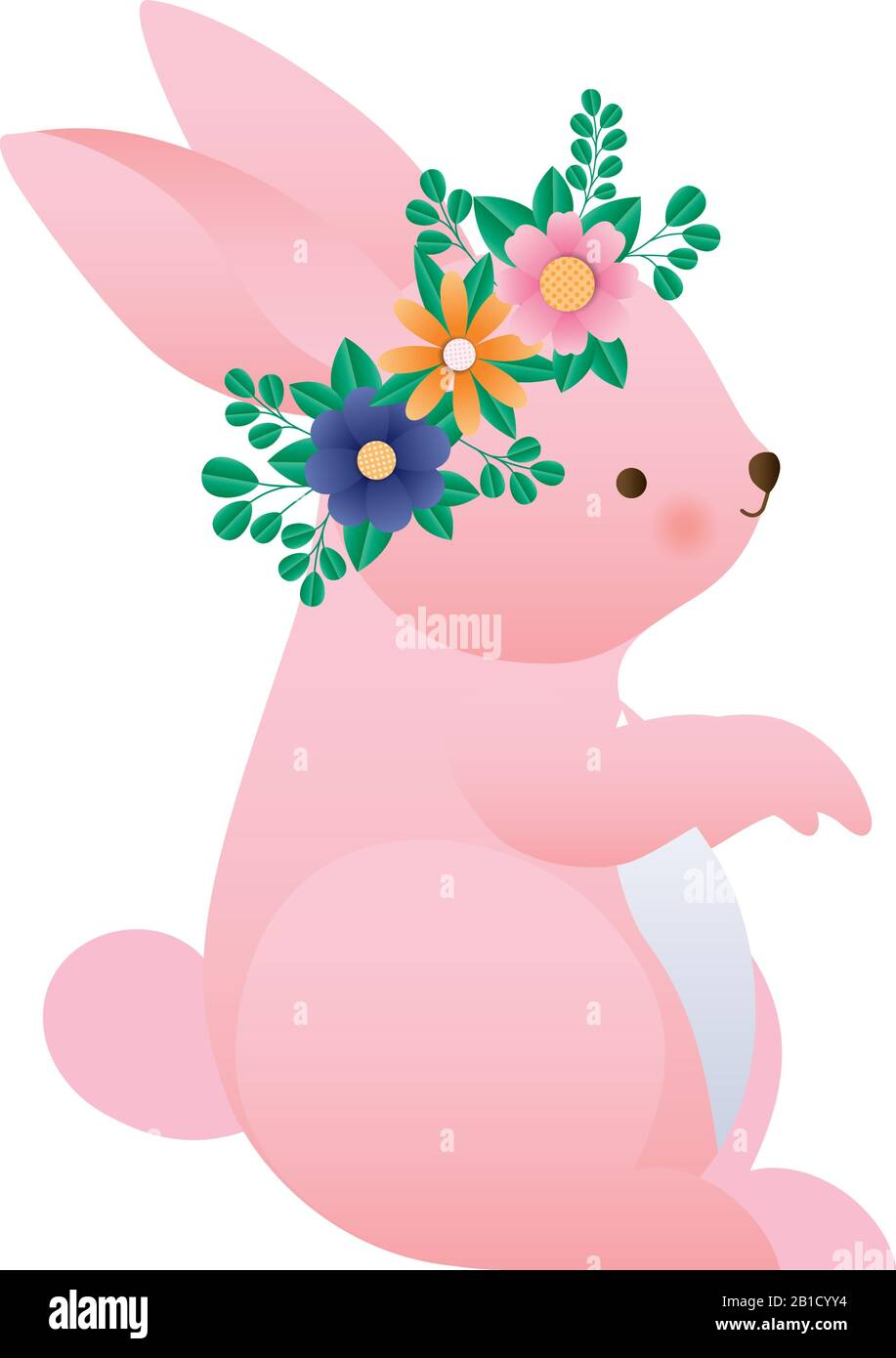 Cute Rabbit Cartoon With Flowers Crown Vector Design Stock Vector Image Art Alamy Download crown cartoon images and photos. alamy