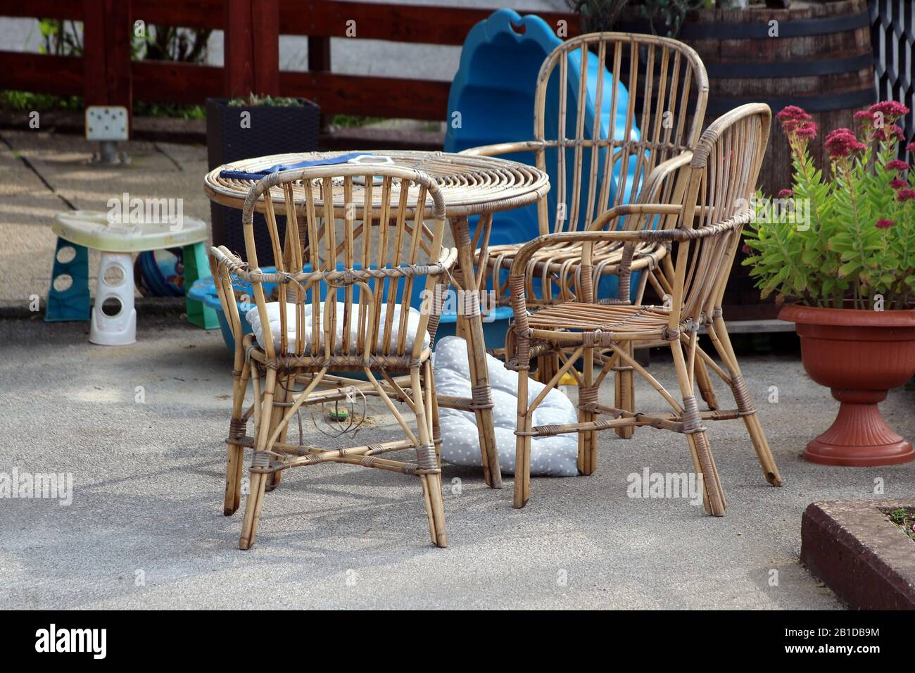Bamboo Garden Furniture High Resolution Stock Photography and
