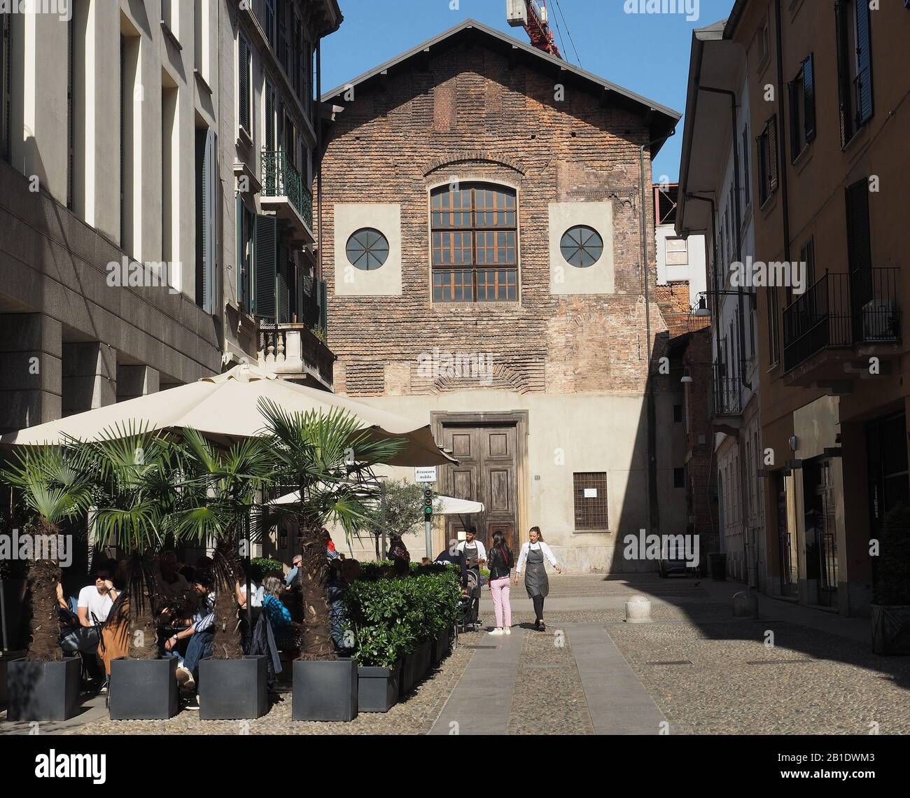 Italy , Lombardy , Milan , San Simpliciano church, brera district , Stock Photo