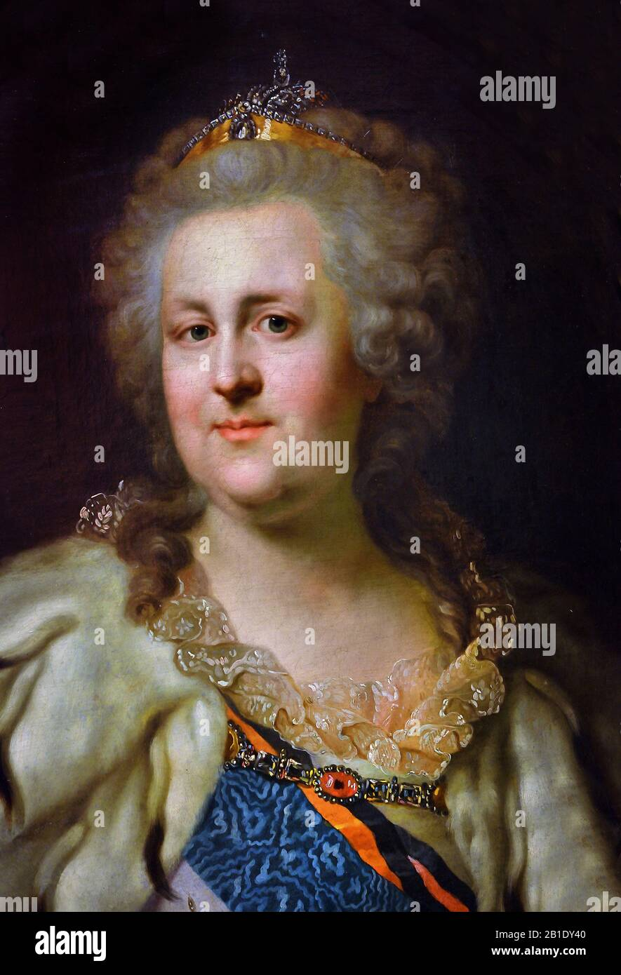 Catherine II -  Catherine the Great 1729 – 1796 ( born Princess Sophie of Anhalt-Zerbst ) Empress of Russia 1762- 1796 ( the country's longest-ruling female leader.)  Russia, Russian, Federation, Stock Photo