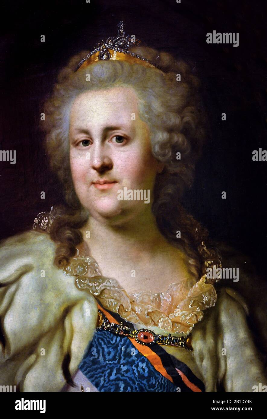 Catherine II -  Catherine the Great 1729 – 1796 ( born Princess Sophie of Anhalt-Zerbst ) Empress of Russia 1762- 1796 ( the country's longest-ruling female leader.) ) Russia, Russian, Federation, Stock Photo
