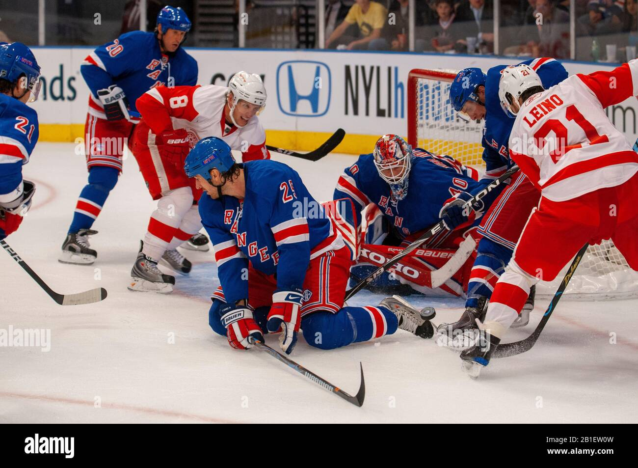 Ice hockey league NHL match Rangers at MSG. When you talk about ...